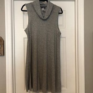 Cowl Neck Sleeveless Grey Dress | Urban Outfitters
